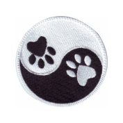 Yin Yang Paw Embroidered Sew on Patch