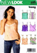 New Look 6385 Sewing Pattern Misses Spaghetti Strap Top Size 8 - 18