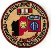 82nd Airborne Division Enduring Freedom Patch