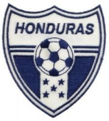 Honduras Fifa World Cup Soccer Iron on Patch Crest Badge ... 5.7cm X 7cm .. New