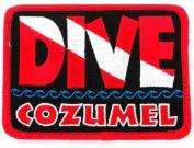 Dive Cozumel Patch Embroidered Iron On Scuba Diving Flag Emblem Souvenir