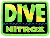 Dive Nitrox Patch Embroidered Iron On Scuba Diving Flag Emblem Souvenir
