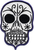 Kruse Artist Patch - 7.6cm Muerto Tribal Scary Angry Skull