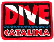 Dive Catalina Patch Embroidered Iron On Scuba Diving Flag Emblem California Souvenir