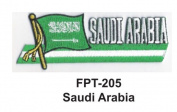 2.5cm - 1.3cm X 10cm - 1.3cm Flag Embroidered Patch Saudi Arabia
