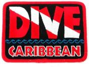 Dive Caribbean Patch Embroidered Iron On Scuba Diving Flag Emblem Souvenir