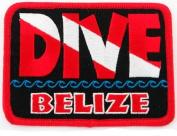 Dive Belize Patch Embroidered Iron On Scuba Diving Flag Emblem Souvenir