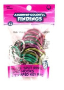 Craft Findings with Split Rings Lanyard Hooks and Key Rings - 50Pieces
