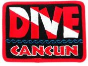 Dive Cancun Patch Embroidered Iron On Scuba Diving Flag Emblem Mexico Souvenir