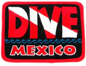 Dive Mexico Patch Embroidered Iron On Scuba Diving Flag Emblem Souvenir