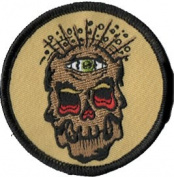 Reed Artist Novelty Patch - Creepy Dead Skull w/ 3rd Eye Applique