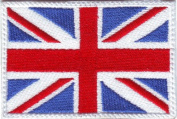 British UK Flag Embroidered Sew on Patch