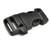 . 1 Bag(30PCS) Packaged - Plastic Flat Side Release Whistle Buckle-Black