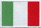 Italy Flag Embroidered Sew on Patch