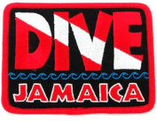 Dive Jamaica Patch Embroidered Iron On Scuba Diving Flag Emblem Souvenir