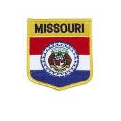 Missouri USA State Shield Flag Iron on Patch Crest Badge .. 7.6cm X 8.9cm ... New