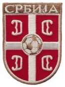 Serbia Srbija Fifa World Cup Soccer Iron on Patch Crest Badge ... 5.1cm X 7cm .. New