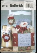 Butterick B4371 Luv 'N Stuff Pattern - Frosty Daze Snowman Pillow and 2 Mitten Ornaments