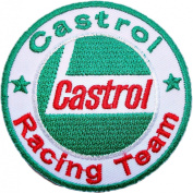 CASTROL Racing Team F1 Nascar Drag oil Logo Shirts GC07 Patches