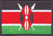 Kenya Flag Embroidered Sew on Patch