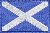 Scotland Flag Embroidered Sew on Patch