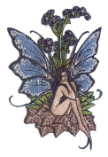Artist Amy Brown Forget me not Embroidered Iron on Fairy Fairies Patch p584