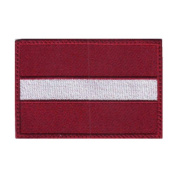 Latvia Flag Embroidered Sew on Patch