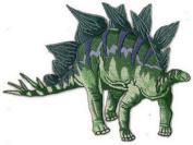 Stegosaurus Embroidered Patch 12.5CM X 9.5CM