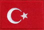 Turkey Flag Embroidered Sew on Patch