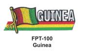 2.5cm - 1.3cm X 10cm - 1.3cm Flag Embroidered Patch Guinea