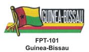2.5cm - 1.3cm X 10cm - 1.3cm Flag Embroidered Patch Guinea-Bissau