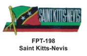 2.5cm - 1.3cm X 10cm - 1.3cm Flag Embroidered Patch Saint Kitts-Nevis