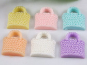 20pcs Resin Flatback Handbag the Scrapbooking DIY Craft Applique Hot