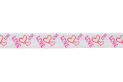 5 Yards of 1.6cm L-o-v-e Valentine's Print Fold Over Elastic