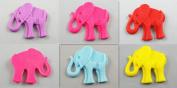 5pcs U Pick Big Elephant Flatback Resin Buttons Scrapbooking DIY Appliques
