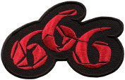 666 number of the beast satanic demonic occult patch Iron on Sew Applique Embroidered patches