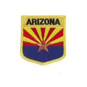 Arizona USA State Shield Flag Iron on Patch Crest Badge .. 7.6cm X 8.9cm ... New