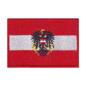 Austria (B) Flag Embroidered Sew on Patch