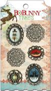 Bo Bunny Press - Blitzen Collection - Christmas - Metal Embellishments - Trinkets