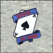 Born To Lose Poker Card Ace Of Hearts Embroidered Iron On Applique Patch FD