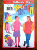 BUTTERICK GIRLS SEWING PATTERN #5171 SIZE 7-8-10 GIRLS JACKET, VEST, SKIRT, PANTS AND HEADBAND - UNCUT SEWING PATTERN RATED VERY EASY