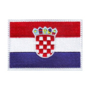 Croatia Flag Embroidered Sew on Patch