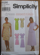 Simplicity Pattern 8086 Misses' Dress or Top and Skirt Sizes 20,22,24