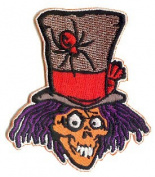 Strephon Artist Patch - 7.6cm Skull Ghost Red Spider Hat