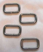 "Studio Kat Designs 1"" (25.4mm) Rectangle Link, Nickel Finish ~ 4 Pack"