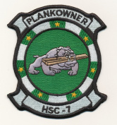 U.S. Military Embroidered Patch - HSC - 7 PLANKOWNER
