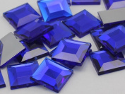 12mm Sapphire Dark .NAB01 Flat Back Square Acrylic Jewels High Quality Pro Grade - 40 Pieces