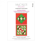 McCall's Creates W10614 Paper Quilt Creations Craft Pattern, Christmas Bonbon Cards Greeting Card