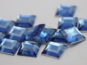 8mm Sapphire Lite H118 Flat Back Square Acrylic Jewels High Quality Pro Grade - 75 Pieces