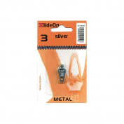 Fix-A-Zipper NOM033146 ZlideOn Zipper Pull Replacements Metal 3, Silver